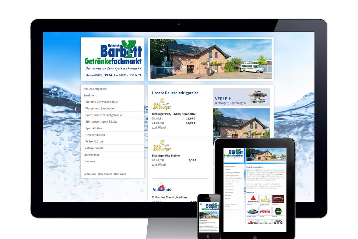Responsive Webdesign Heinrich Barbett Getränkefachmarkt › PIXTURA ...